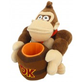 Peluche - Nintendo - Donkey Kong avec Tonneau 23 cm