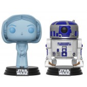 Figurine Toy Pop - Star Wars - Twin Pack Leia Hologramme & R2-D2 (SDCC - Exclusif Micromania - Gamestop)