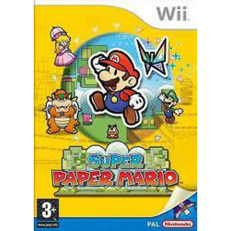 super paper mario sur wii tous les jeux vid o wii sont. Black Bedroom Furniture Sets. Home Design Ideas