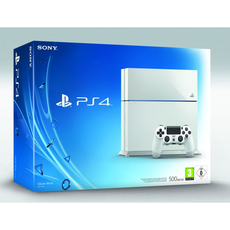 playstation 4 500 go blanche ps4. Black Bedroom Furniture Sets. Home Design Ideas