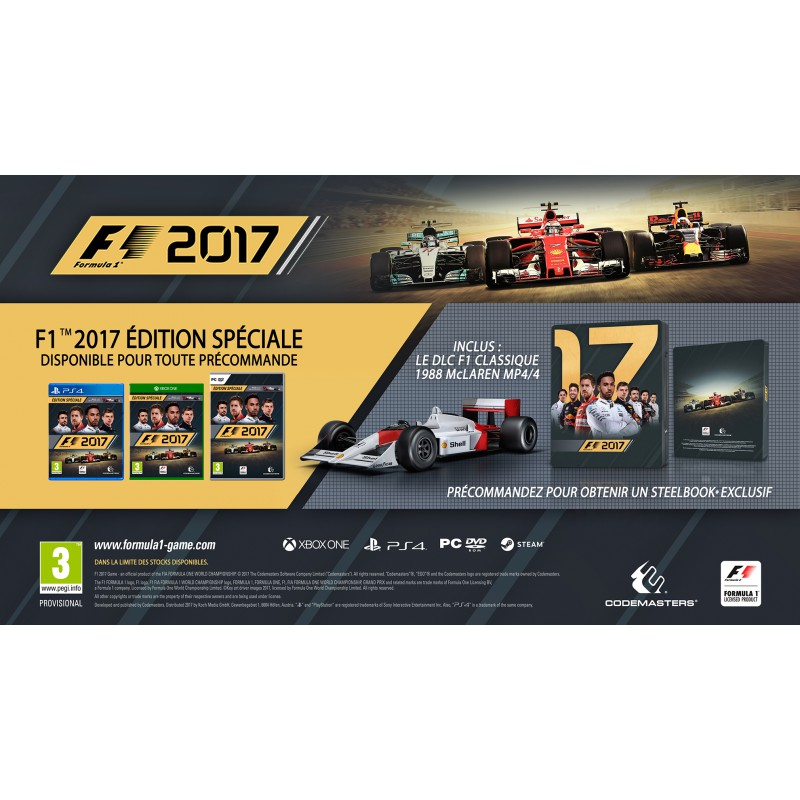 f1 2017 edition sp ciale sur xbox one tous les jeux vid o xbox one sont chez micromania. Black Bedroom Furniture Sets. Home Design Ideas