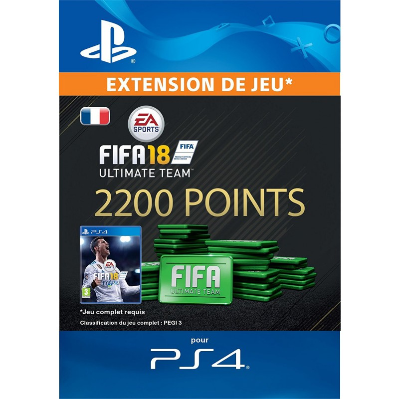 fifa 18 ultimate team 2 200 pts ps4 ps4. Black Bedroom Furniture Sets. Home Design Ideas