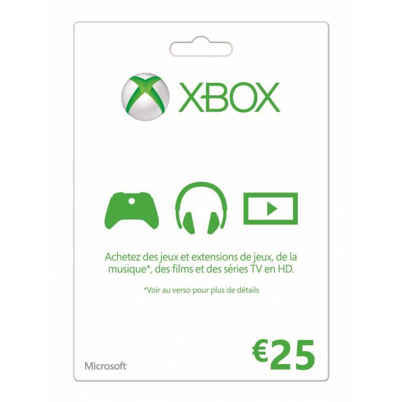 image du jeu Carte Xbox Live 25 euros sur XBOX 360