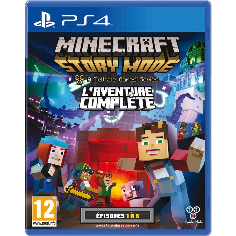 minecraft story mode sur ps4 tous les jeux vid o ps4 sont chez micromania. Black Bedroom Furniture Sets. Home Design Ideas
