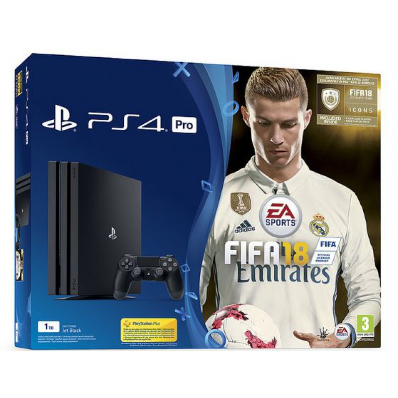 pack ps4 pro 1to noire fifa 18 edition deluxe ps4. Black Bedroom Furniture Sets. Home Design Ideas
