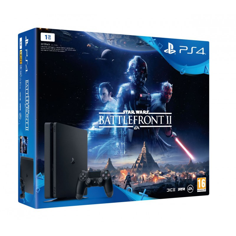 pack ps4 slim 1to noire star wars bf ii ps4. Black Bedroom Furniture Sets. Home Design Ideas