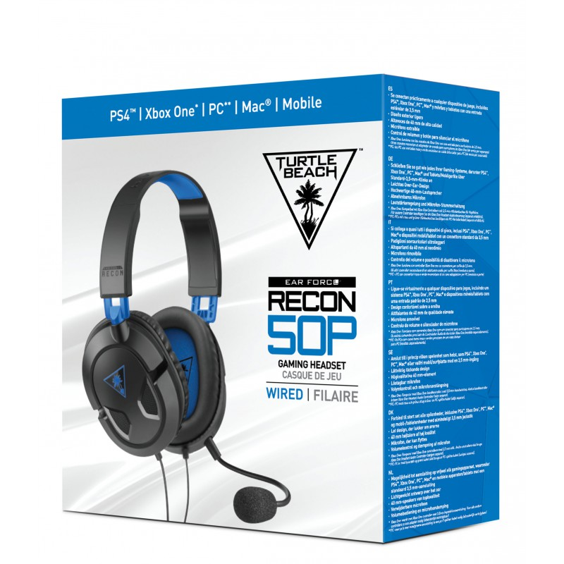 casque ear force turtle beach recon 50p ps4. Black Bedroom Furniture Sets. Home Design Ideas
