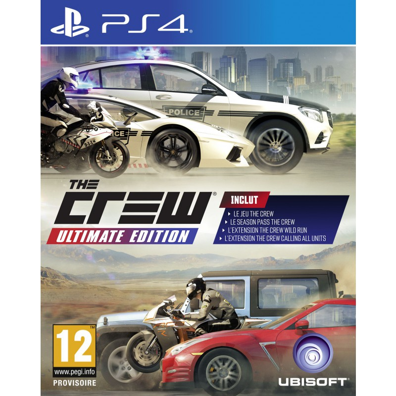 the crew ultimate edition sur ps4 tous les jeux vid o ps4 sont chez micromania. Black Bedroom Furniture Sets. Home Design Ideas