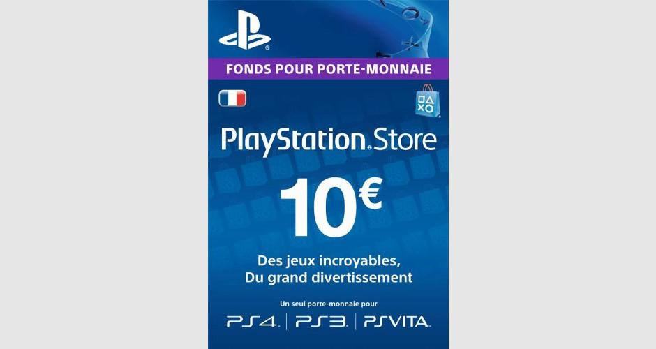 Psn card 10 euros ps4 ps3 ps vita ps3 - Jeux en ligne ps4 ...