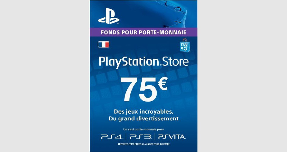 psn card 75 euros ps4 ps3 ps vita ps3. Black Bedroom Furniture Sets. Home Design Ideas