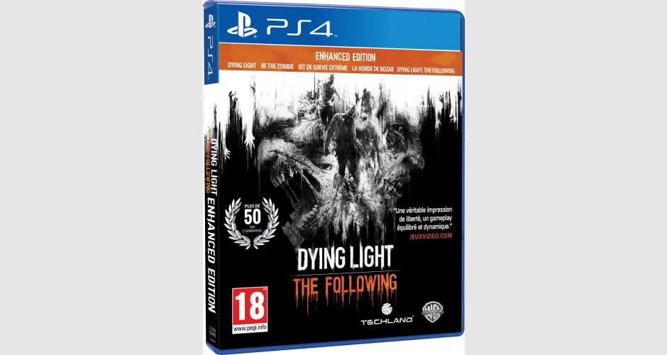 dying light the following enhanced edition sur ps4 tous les jeux vid o ps4 sont chez micromania. Black Bedroom Furniture Sets. Home Design Ideas