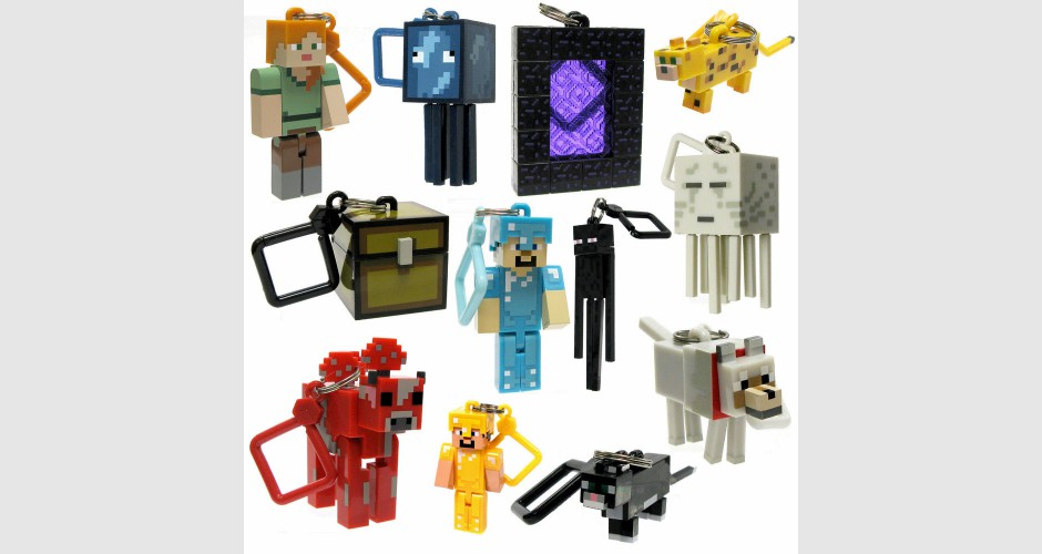 Porte clef figurine 6 cm minecraft s rie 2 divers for Porte and minecraft