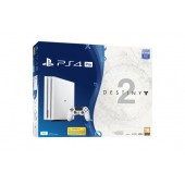 PS4 Pro 1 To Blanche + Destiny 2 (Passe Extension inclus) - Exclusivité Micromania