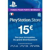 PSN Card 15 euros PS4 - PS3 - PS Vita