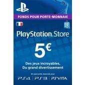 PSN Card 5 euros PS4 - PS3 - PS Vita