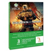Xbox Live Gold 3 Mois Xbox 360 + 1 Mois Gears Of War : Judgment