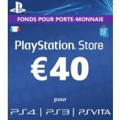 PSN Card 40 euros - PS4 - PS3 - PS Vita