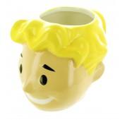 Mug - Fallout - Tête Vault Boy 3D