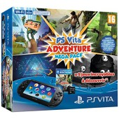 Pack PS Vita Noire + Voucher Adventure Mega Pack + Carte mémoire 8Go
