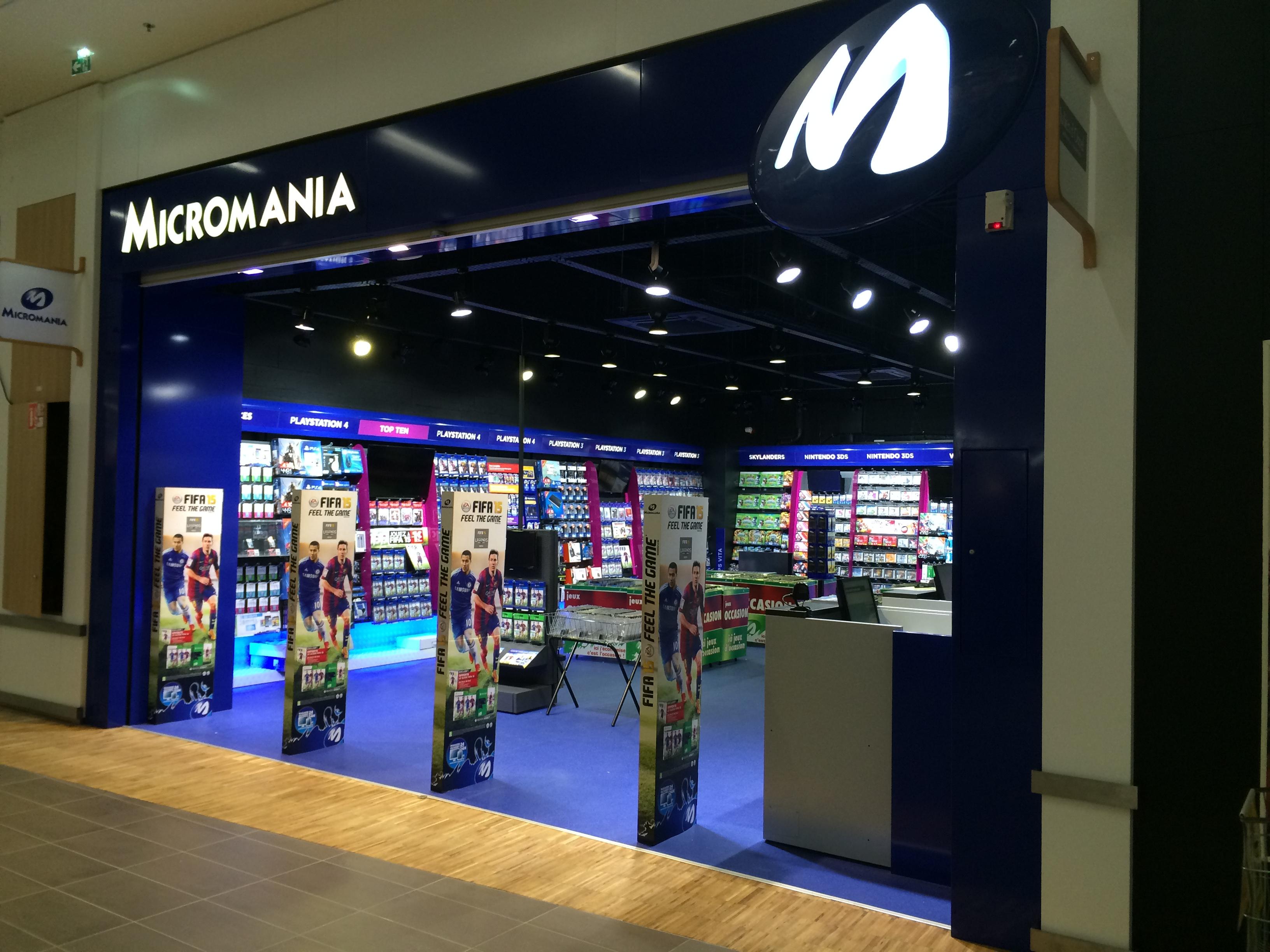 magasin jeux vid o mundolsheim centre commercial cora infos et adresse micromania. Black Bedroom Furniture Sets. Home Design Ideas