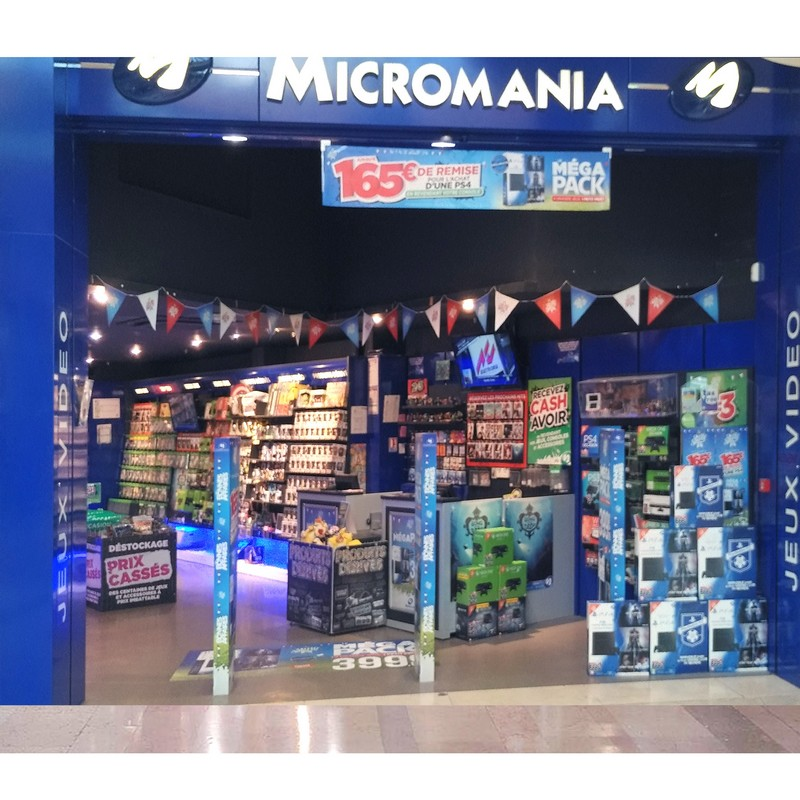 magasin jeux vid o roncq centre commercial auchan infos et adresse micromania. Black Bedroom Furniture Sets. Home Design Ideas