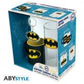 Coffret dc comics verre 29 cl porte clés pvc mini mug batman