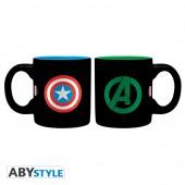 Mug - Marvel - Set de 2 Captain America et Hulk - 110 ml