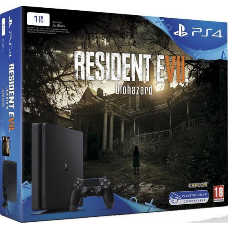 image du jeu Pack PS4 Slim 1 To + Resident Evil 7 sur PS4