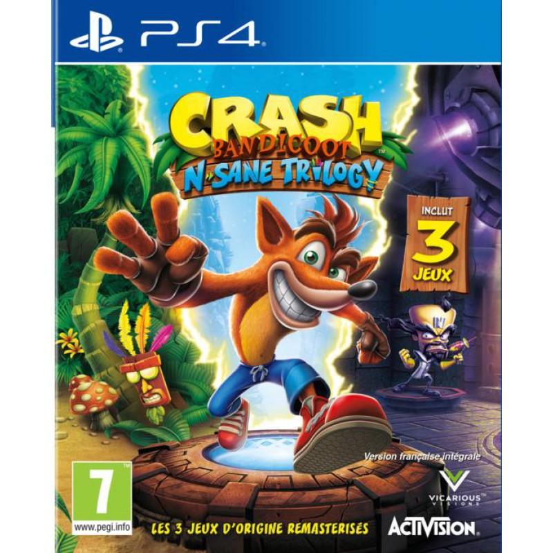 image du jeu Crash Bandicoot N.Sane Trilogy sur PS4