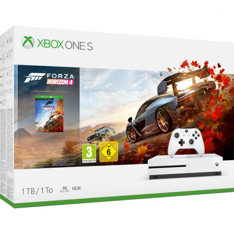 pack xbox one s 1to blanche forza horizon 4 xboxone. Black Bedroom Furniture Sets. Home Design Ideas