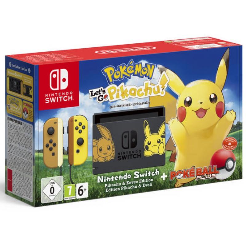 image du jeu Pack Nintendo Switch Edition Pikachu Et Evoli  + Pokemon: Let's Go, Pikachu Prei sur SWITCH