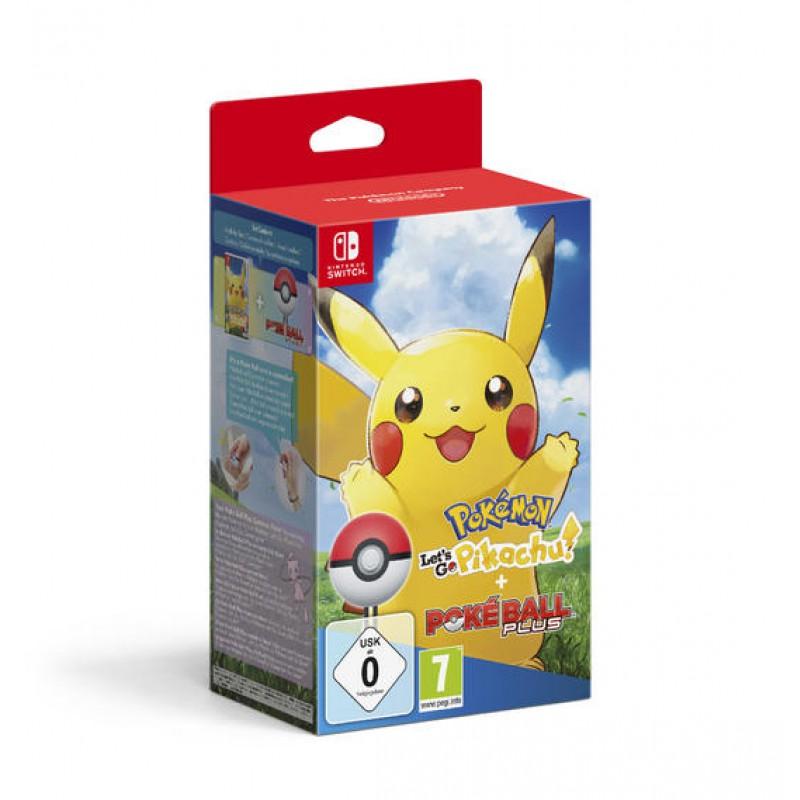 image du jeu Pokemon Let's Go Pikachu + Poke Ball sur SWITCH
