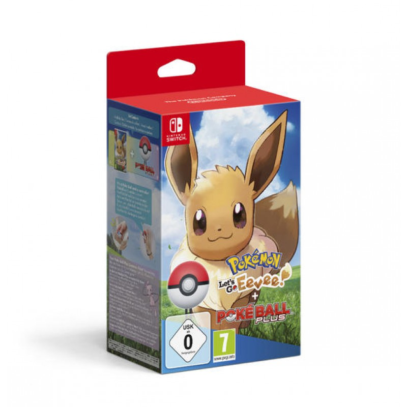 image du jeu Pokemon Let's Go Evoli + Poke Ball Plus sur SWITCH
