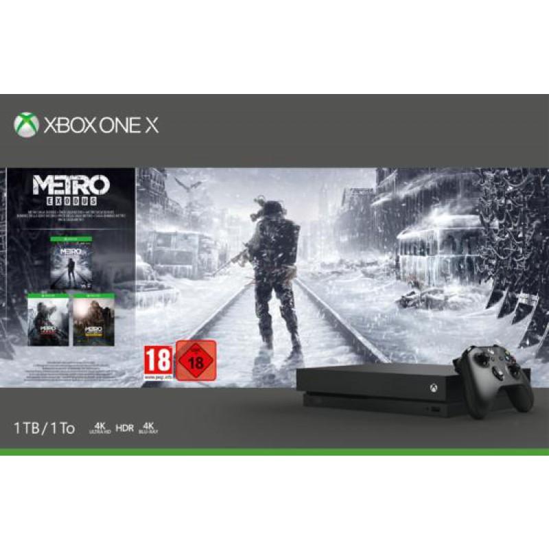 image du jeu Pack Xbox One X 1to Noire + Metro Exodus Saga Bundle (téléchargement) sur XBOX ONE