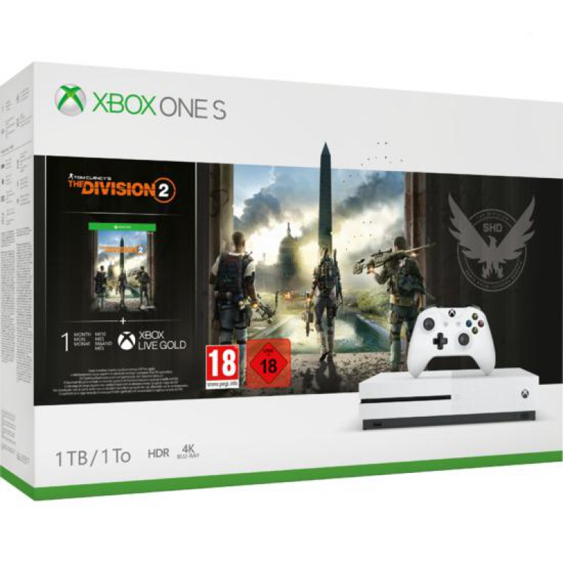 image du jeu Pack Xbox One S 1to Blanche + Tom Clancy's The Division 2 sur XBOX ONE