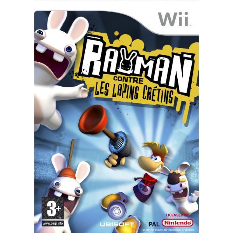 image du jeu Rayman, Contre Les Lapins Crétins sur WII