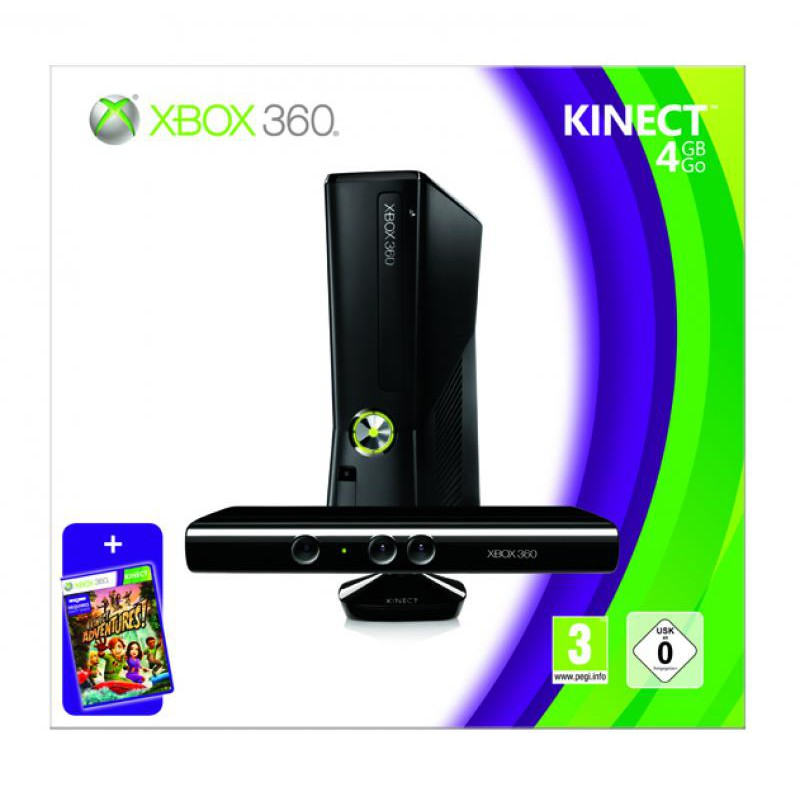 Supprimer Carte Bancaire Xbox 360.Pack X360 4 Go Kinect Incluant Kinect Adventures Xbox360