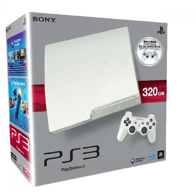 image du jeu Playstation 3 Blanche 320 Go + 2 Manettes (exclu Micromania) sur PS3