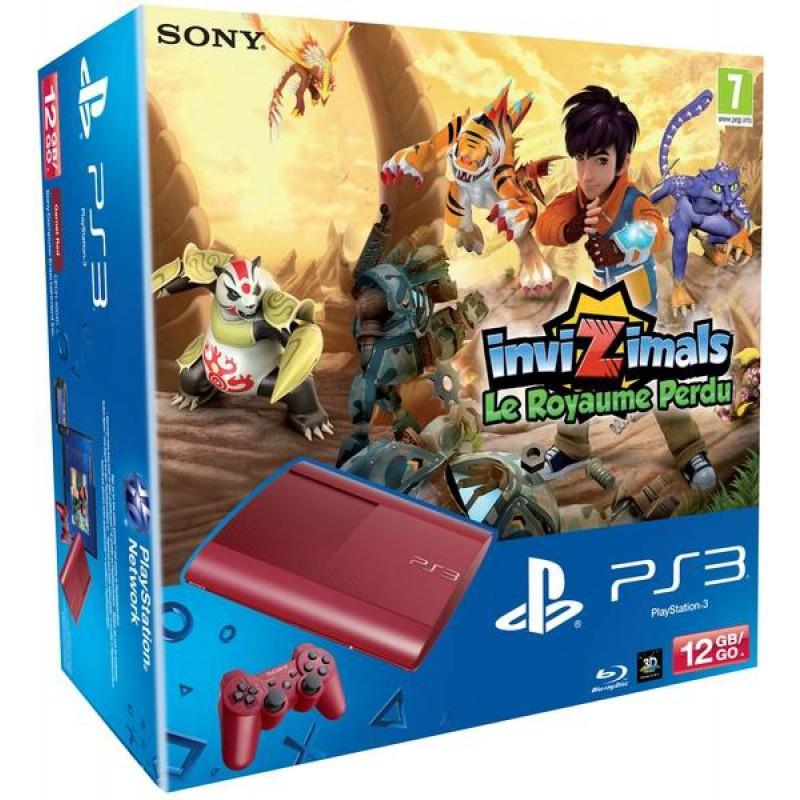 image du jeu Pack Ps3 12 Go Rouge + Invizimals : Le Royaume Perdu sur PS3