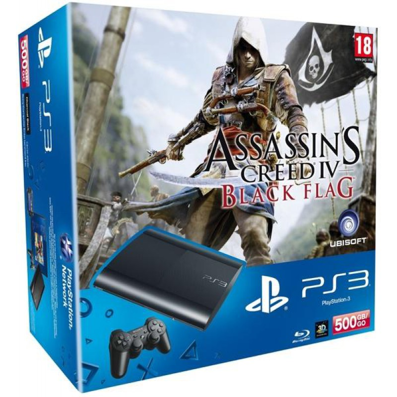 image du jeu Pack Ps3 500 Go Noire + Assassin's Creed Iv: Black Flag + Voucher The Last Of Us sur PS3