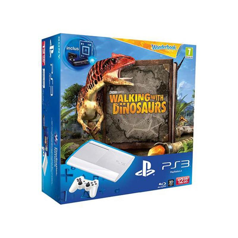 image du jeu Pack PS3 12 Go Blanche + Sur La Terre Des Dinosaures + Wonderbook + Pack Découverte sur PS3