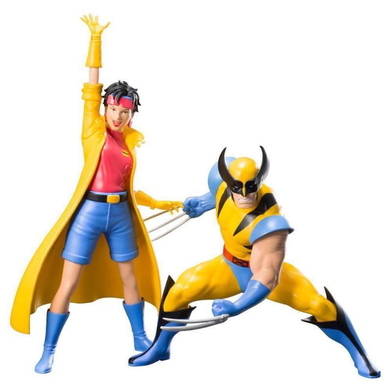 image du jeu Pack de 2 statuettes Artfx Kotobukiya - Marvel Universe - Wolverine et Jubilee sur AUTRES