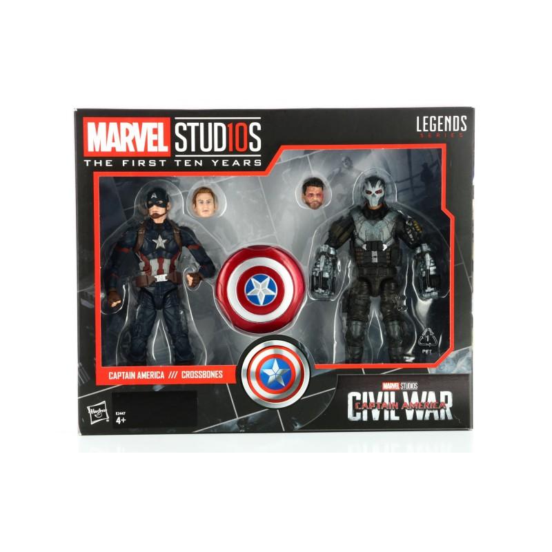 image du jeu Figurine - Civil War - Anniversaire 10 Ans Twin Pack Captain America Crossbones sur AUTRES