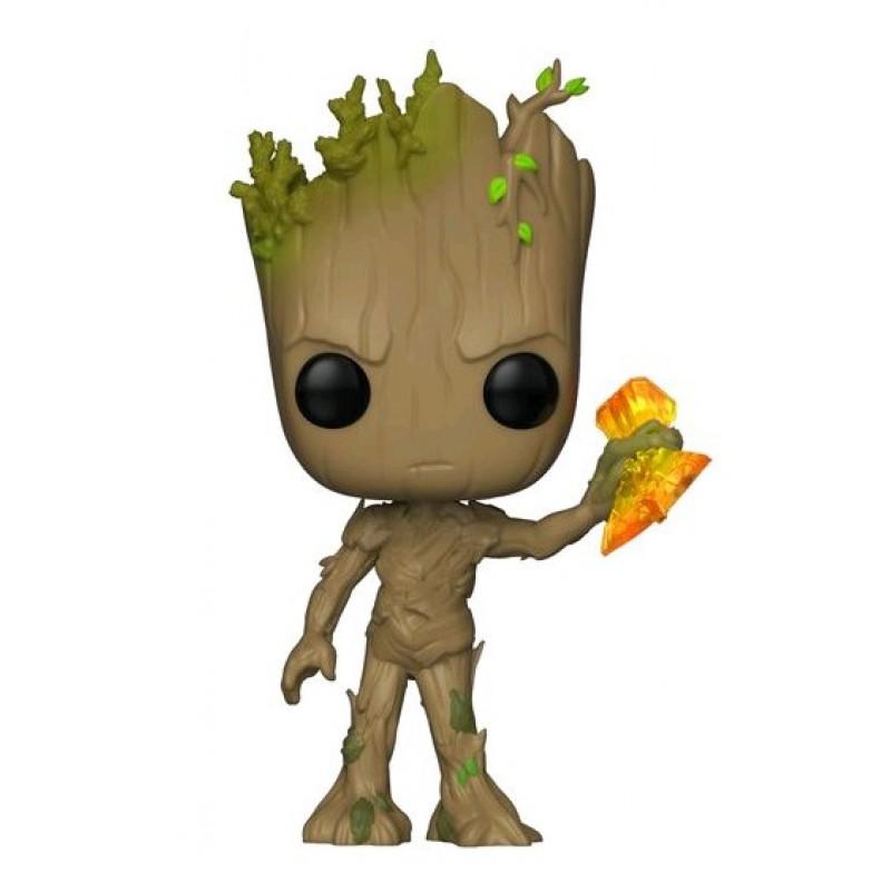 image du jeu Figurine Funko Pop! N°416 - Avenger Infinity War - Série 2 Groot avec Stormbreaker sur AUTRES