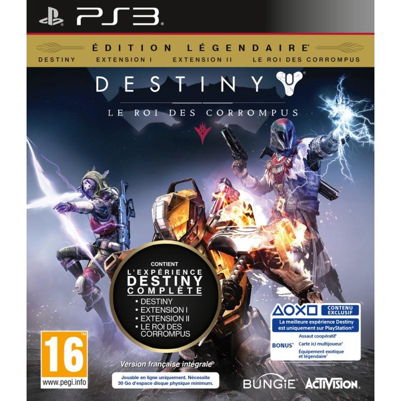 Destiny Le Roi Des Corrompus Edition Légendaire Sur Ps3 Tous Les
