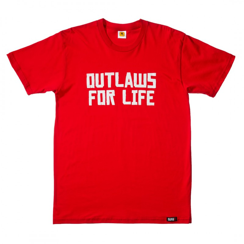 image du jeu T-shirt - Red Dead Redemption 2 - Outlaws For Life - Taille M sur AUTRES