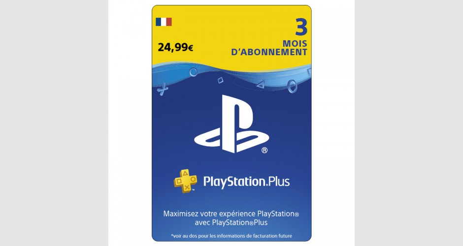 af7297d0abf PLAYSTATION PLUS 3 Mois PS4 - PS3 - PS Vita - PS3