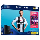 Pack Ps4 Pro 1to Noire + FIFA 19 + PS+ 14 jours