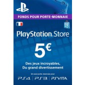 PSN Card 5 euros PS4 - PS3 - PS Vita