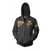 Sweat A Capuche Zippe - Overwatch - Roadhog Noir Taille M (exclu Micro)